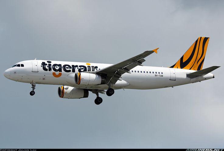 Airbus A320-232, Tigerair, 9V-TAN, cn 4210, first flight 29.1.2010 (Tiger Airways), Tigerair delivered 3.7.2013. Foto: Singapore, 10.1.2016.