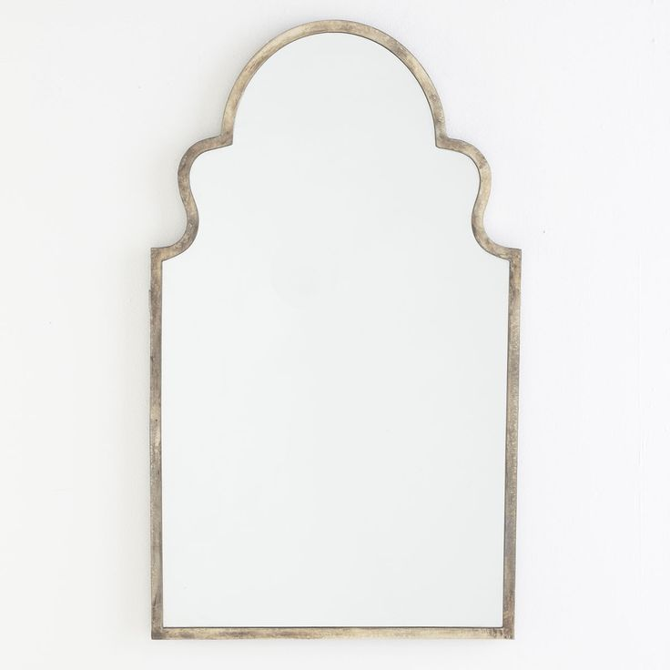 W8180 Handfinished Silver Mirror - Moroccan Mirrors 24x40 $300 (inc shipping) at wisteria.com