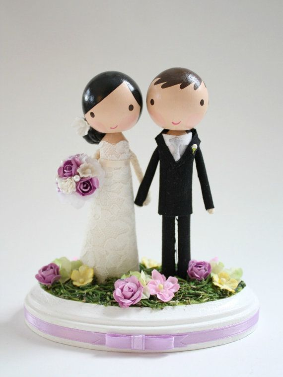 custom wedding cake topper order for by lollipopworkshop on Etsy