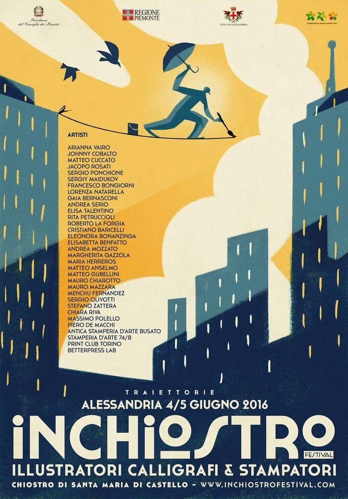Il manifesto di Inchiostro Festival è illustrato da Riccardo Guasco