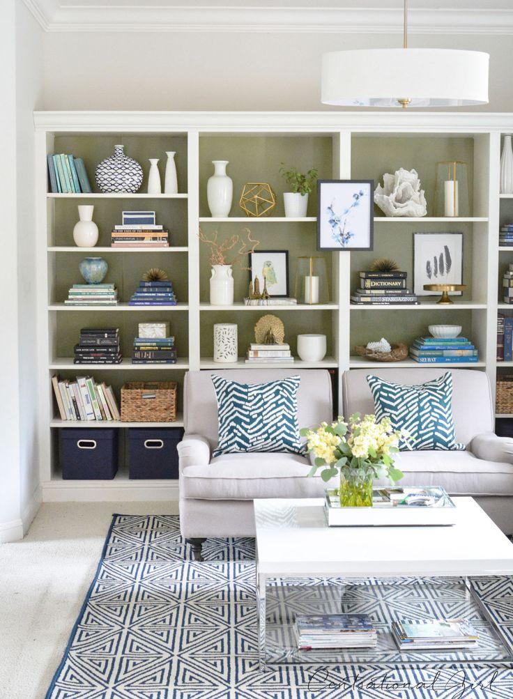 olive green studio bookshelves - Ikea Billy