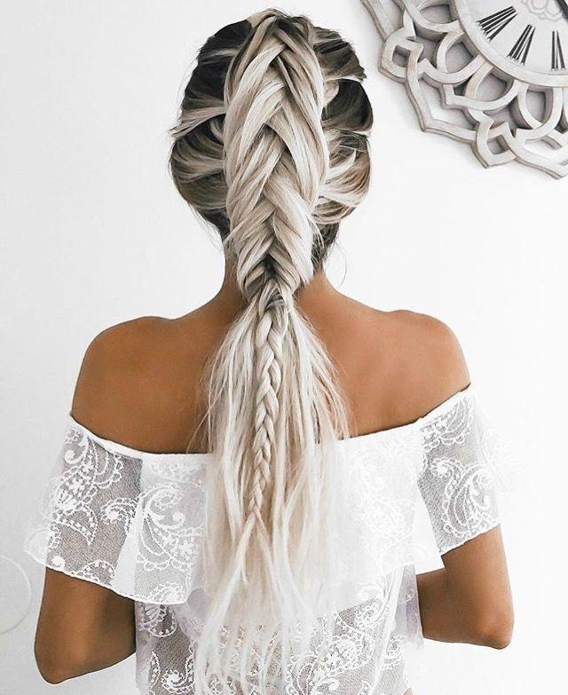 Dutch fish tail braid hair style