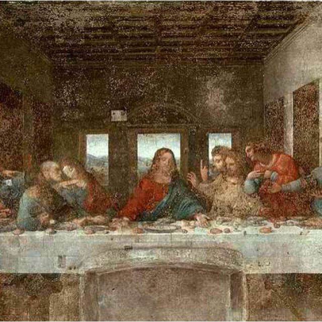 "Leonardo Da Vinci ""The Last Supper"" I love Da Vinci's painting. If I could go back in time this is the man I would want to meet & sit down and chat with"