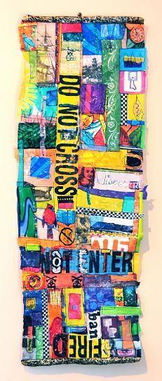 Boundaries, Cathleen Bradley- fused plastic bags Downsized Image [DSC_0039.jpg - 601kB]
