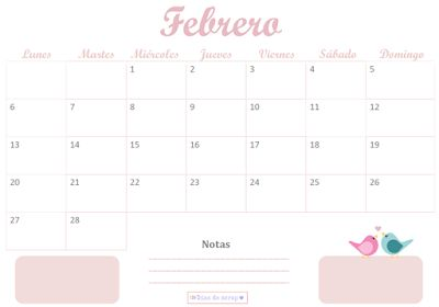 Calendario Días de scrap de Febrero 2017 de descarga gratuita #freebies #calendario #febrero #2017 #diasdescrap