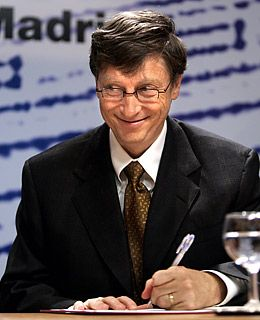 Bill Gates = super-rich lefty