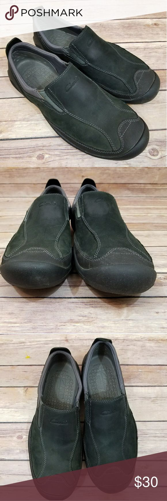 Clarks Rock 8 Men's Slip On Shoes Men's 8.  Removable sole,  very clean.  Slip on style for a quick trip to town! Clarks Shoes Loafers & Slip-Ons