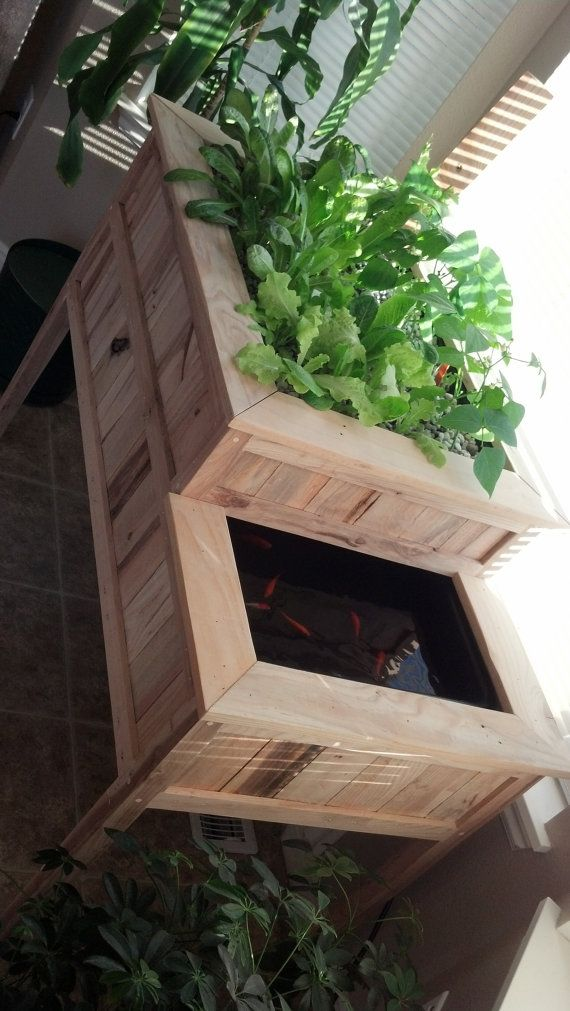 Aquaponic Herb & Vegetable Garden by KinportDesigns on Etsy, $599.99 -- self sustaining