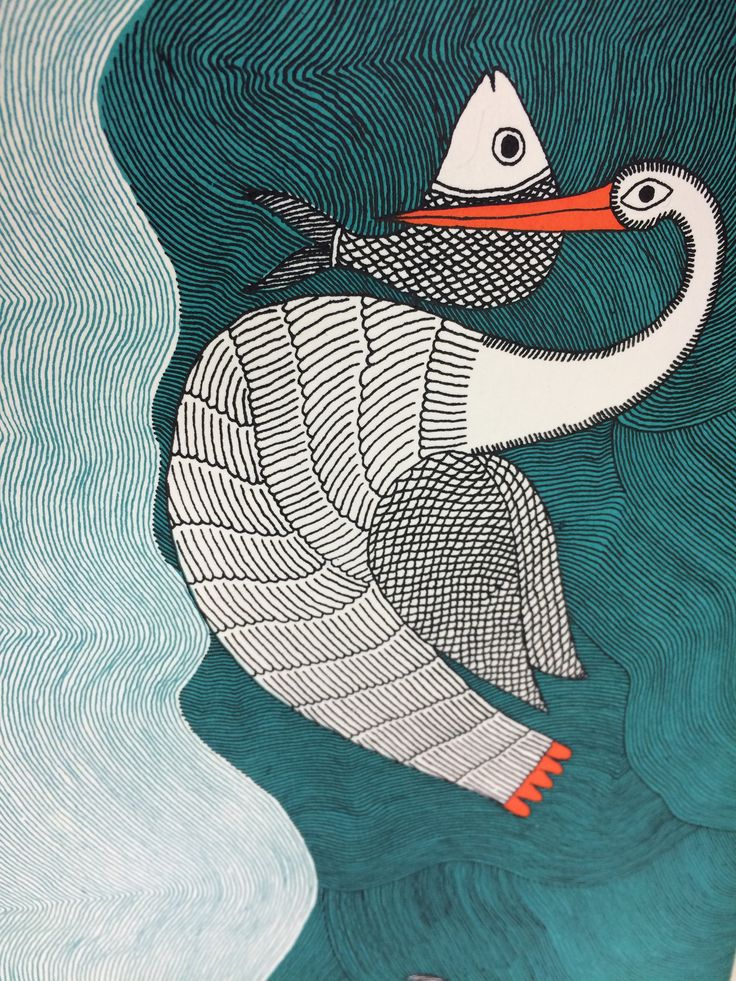「Waterlife」 by Rambharos Jha. This book has been silk-screen printed and bound by hand, on handmade paper.