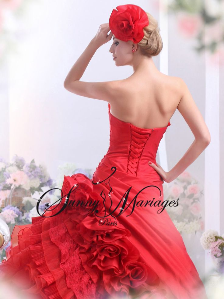 robe de mariage originale rouge ou noir grande taille possible sur mesure SUNNY MARIAGES robe mariage  pas cher Paris