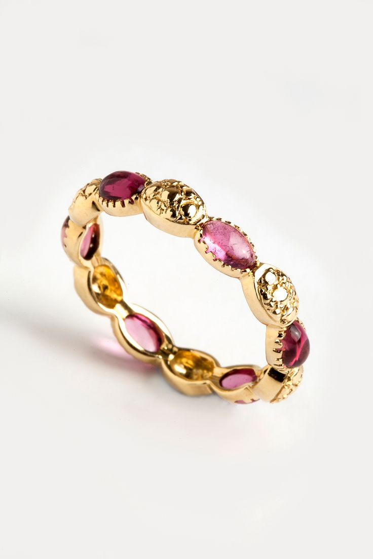 Hania Kuzbari Freestyle Collection // 18K yellow gold and pink tourmaline // http://haniakuzbari.com/freestyle.php