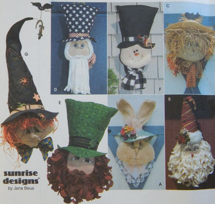 Seasonal Door Decorations Sewing Pattern/ Simplicity Crafts 8935/easter christmas st patrick halloween 4th july fall winter spring/UNCUT by RedWickerBasket on Etsy