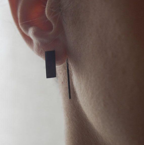Rectangle pendants earrings // graphic earrings // thread by AgJc