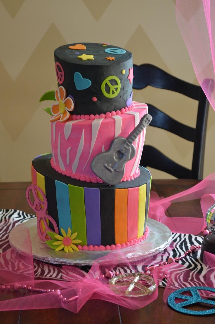 Madi S Peace Sign 8th Birthday Cake My Cakes Pinterest