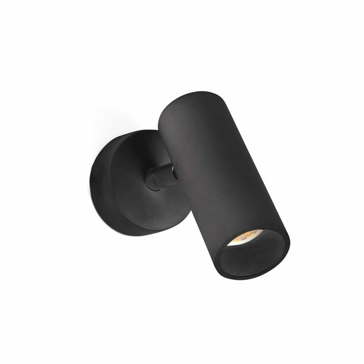 Foco tipo aplique de LED 4W negro #interiorismo #decoracion #lamparas #iluminacion #lucesdecasa #apliques