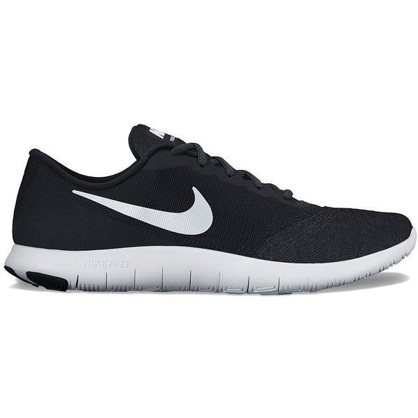 Nike Flex Contact Women's Running Shoes ($75) ❤ liked on Polyvore featuring shoes, athletic shoes, black, kohl shoes, black mesh shoes, mesh shoes, nike and laced shoes