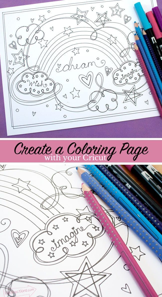 Rainbow Dream Coloring Page Coloring Pages Name Drawings Vinyl Crafts