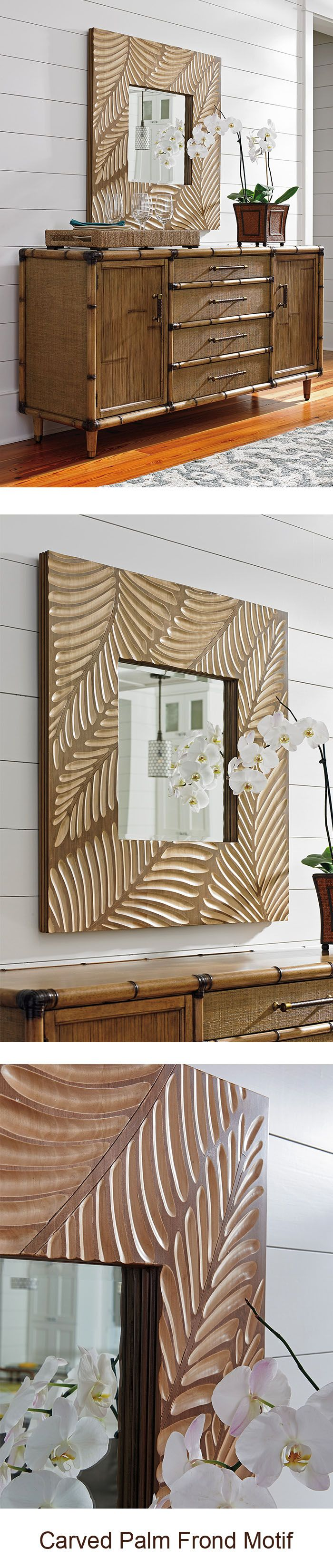 Freeport Square Mirror from Tommy Bahama Home | Twin Palms | LHBDesign