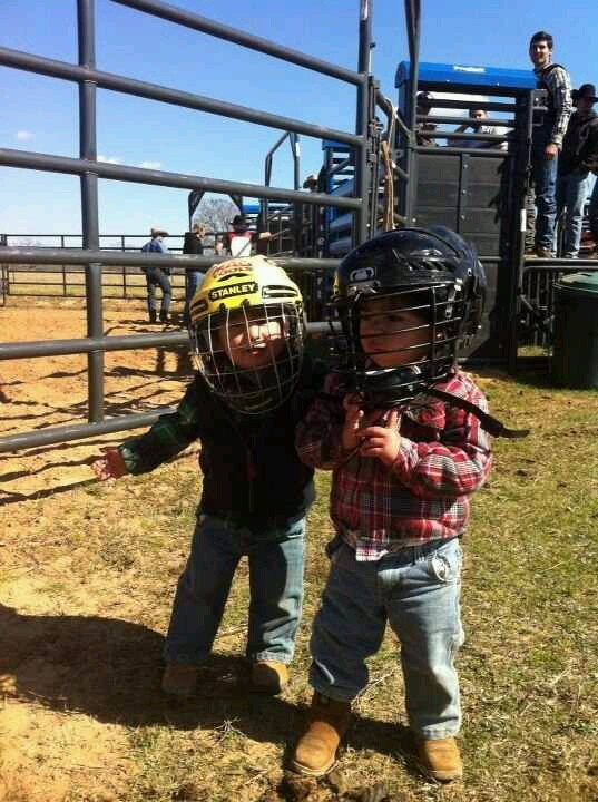 Future bull riders Eduardo Alves and Mateus Palermo