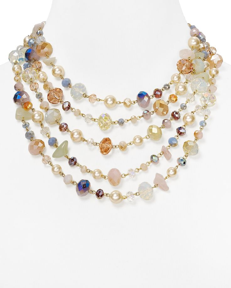 """Carolee Multi Strand Necklace 16"""", Garden Collection 