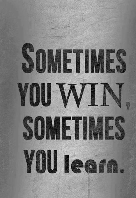Sometimes You Win Sometimes You Learn Kravmaga Learntennis How