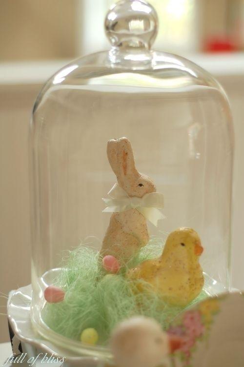 Easter Decor Cloche