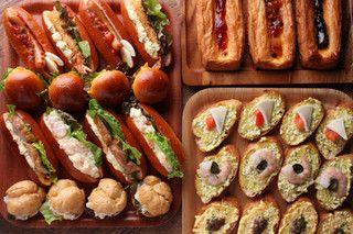 ファクトリーカフェ - 料理写真:【ランチ】20種類以上のデニッシュやミニドックなどデリパンが食べ放題!!