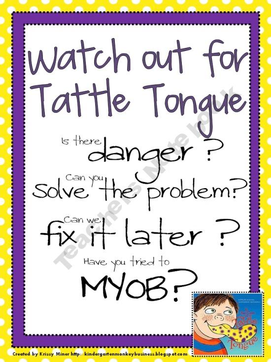 tattle tongue poster ii