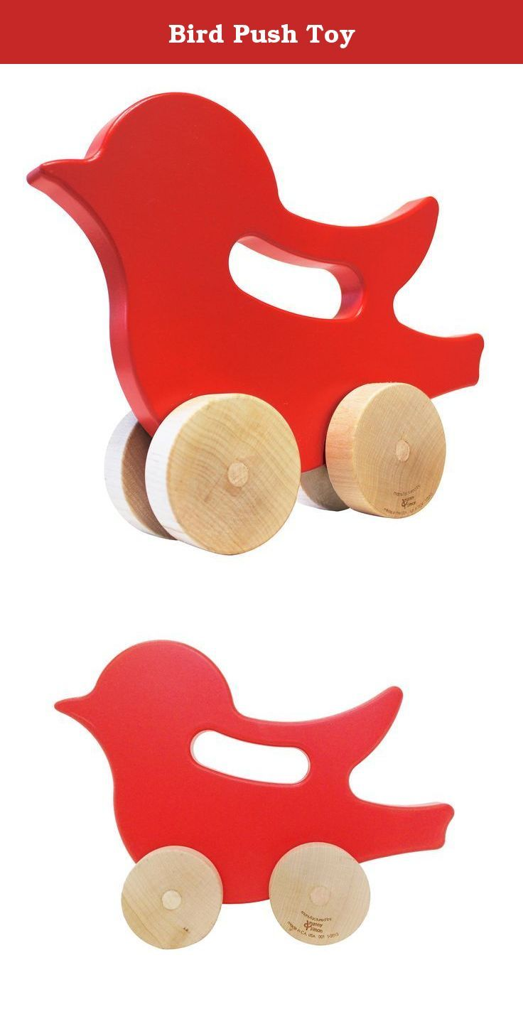 Bird Push Toy. This eco-friendly wooden Bird push toy is a contemporary and brightly colored twist on classic kid's heirloom toys. With an easy grip built-in handle perfect for little hands to grab and hold. All manny and simon products are proudly made in the USA and are non-toxic. The manny and simon Bird push toy is one of our newest additions to our line of classic wooden toys. - Made from 100% pre-consumer, domestically grown reclaimed wood & sustainably harvested maple. - Painted…
