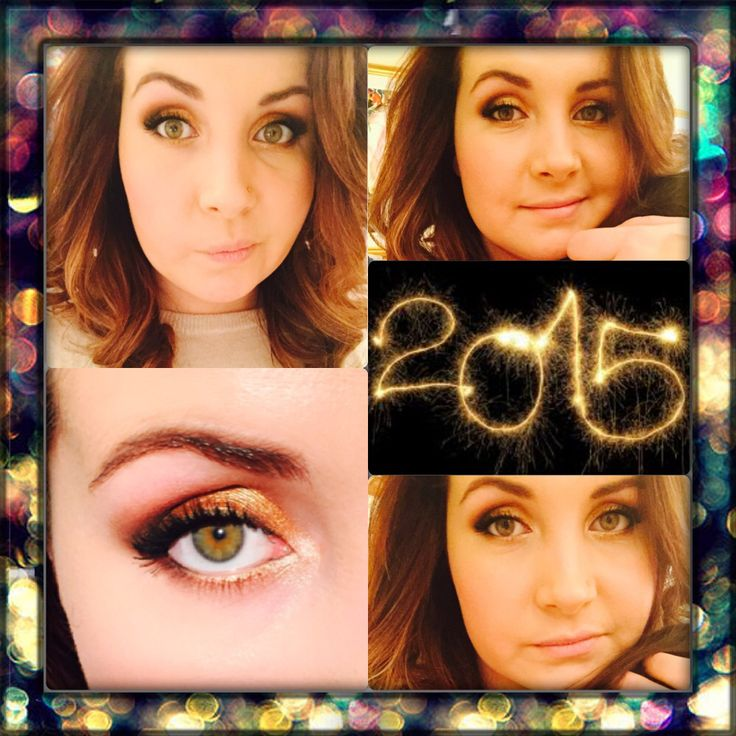 My New Year's look for this year - gold sparkles is always a good idea!! :)
