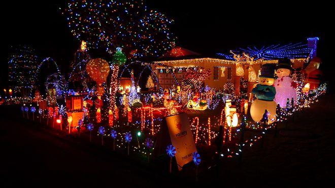 Christmas on Jersey Drive Surrey B.C.