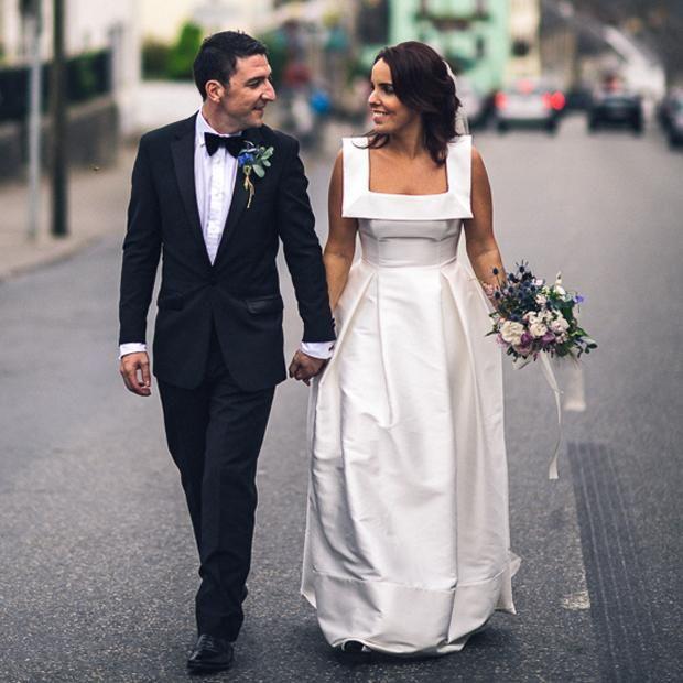 Newest Unique Square Neck Sleeveless A-line Simple Satin Cheap Wedding Dress, AB1107