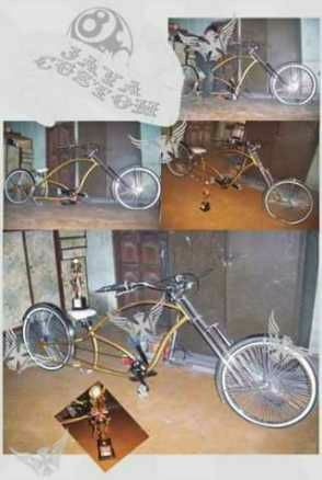 Hand made chopper bicycles