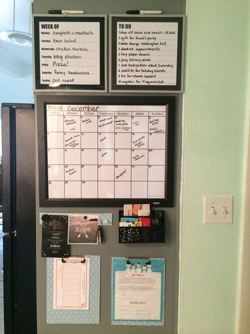Get Organized with a Kitchen Command Center | Powerful Mothering