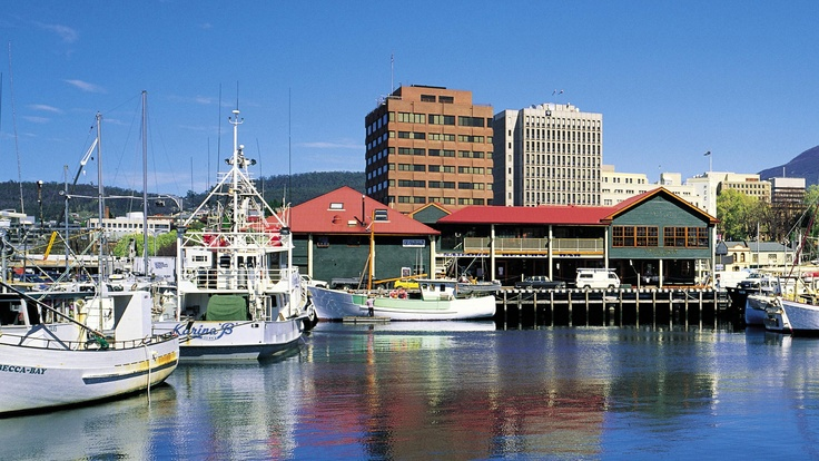 The Hobart waterfront during the day.
