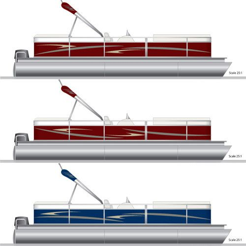 Pontoon graphics decal kit pontoon for Pontoon boat interior designs