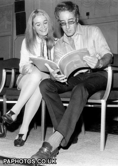 Off-screen photo of Peter Sellers and Sinead Cusack