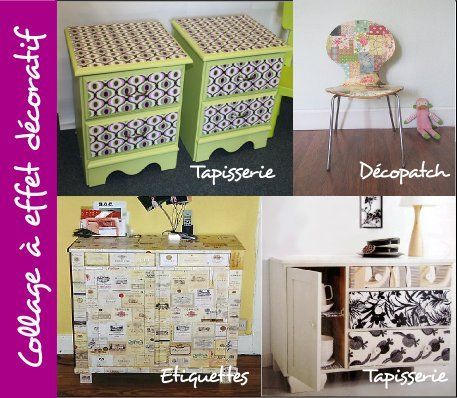 Relooker un meuble tapisserie d copatch tendance diy for Decopatch meuble
