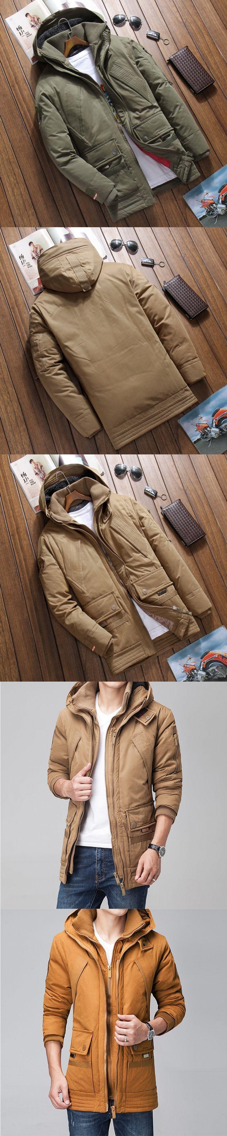 2017 winter Parka warm down jacket men thick long Cotton jacket male hooded  Parka Hombre  Casacos Jaqueta Masculina Inverno