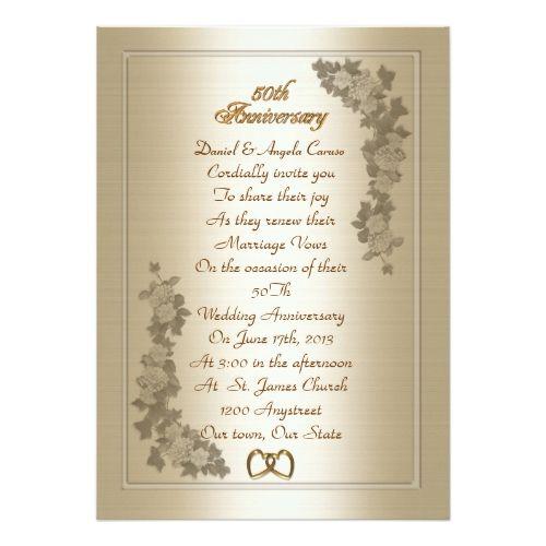 50th Wedding Anniversary Vows Renewal: Best 25+ Vow Renewal Invitations Ideas On Pinterest