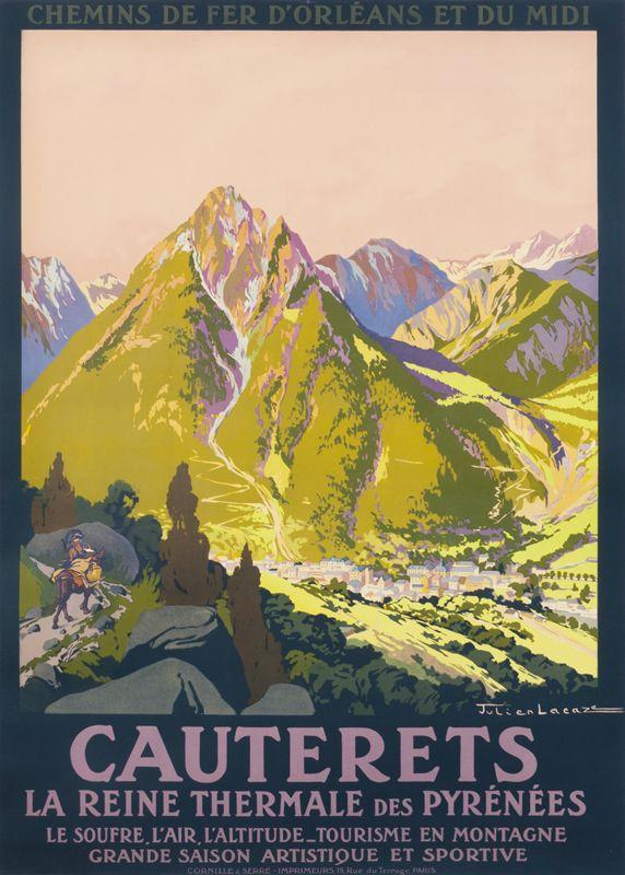 Julien Lacaze Poster: Chemin de Fer d'Orleans et du Midi - Cauterets