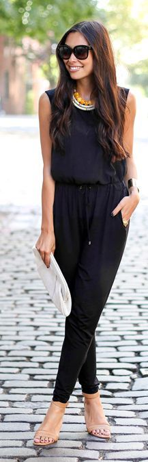 Trina Turk Black Street Chic Jumpsuit by With Love From Kat