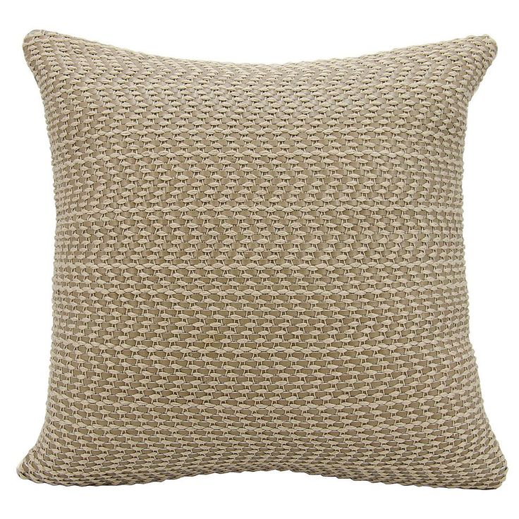Joseph Abboud Basket Weave Leather Throw Pillow, Grey