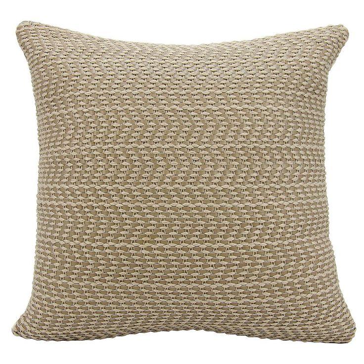 Joseph Abboud Basket Weave Leather Throw Pillow, Grey