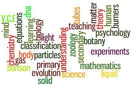 The many different areas students can explore in the paradigm of science.