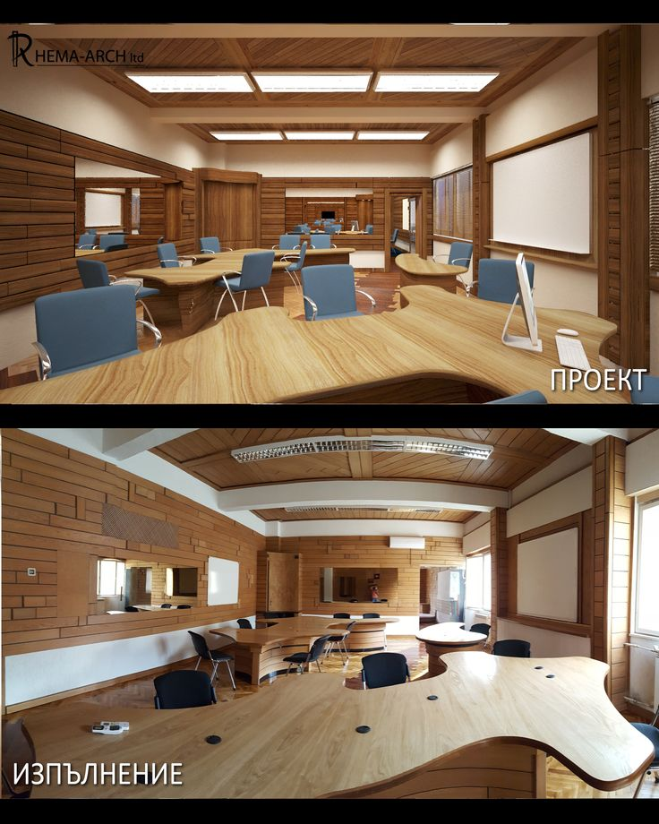 Innovative School Interior Of A Computer Room Render Vs Reality Designed By Rhema Arch