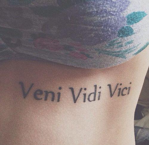 Simple And Great Veni Vidi Vici From TattoosWin.com
