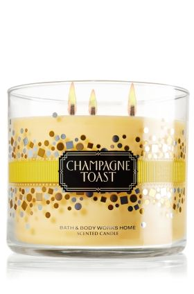 "It's like ""Pop! Fizz! Clink!"" in a candle! Champagne Toast 14.5 oz. 3-Wick Candle - Slatkin & Co. - Bath & Body Works"