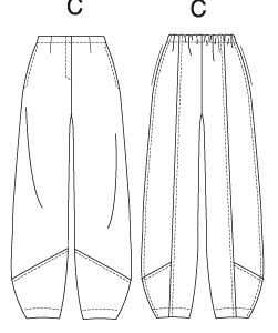reminds me of pants MC hammer wore in the 90's  HAMMER TIME!!   Vogue 8712 PATTERN