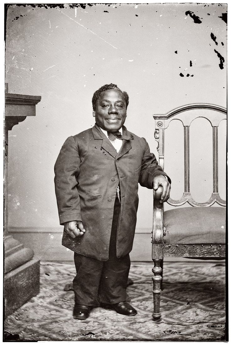 "The American minstrel performer Japanese Tommy, aka Thomas Dilward, circa 1860. Brady-Handy Photograph Collection.    ""Thomas Dilward (1840–1902), also known by the stage name Japanese Tommy, was an African American dwarf who performed in the blackface minstrel show"". (Wiki)"